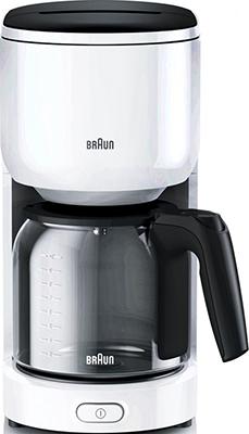 Кофеварка BRAUN KF 3120 WH kumtel kf 3100 белый