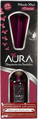Арома-диффузор AURA Mikado для жилых помещений с ароматом цветущей вишни 50 мл арома диффузор aura mikado для жилых помещений с ароматом цветущей вишни 30 мл
