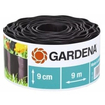 Садовый бордюр Gardena черный 9 см длина 9 м 00530-20 xixu 9