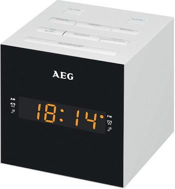 Будильник AEG MRC 4150 weiss цена и фото