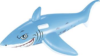 Надувная игрушка-наездник BestWay ''Большая белая акула'' с ручками 41032 BW