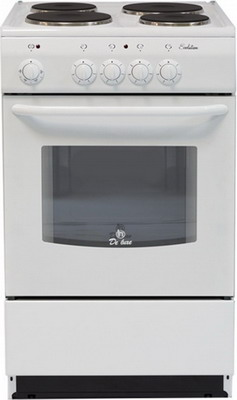 Электроплита DeLuxe 5004.12 э (без щитка и крышки) белый