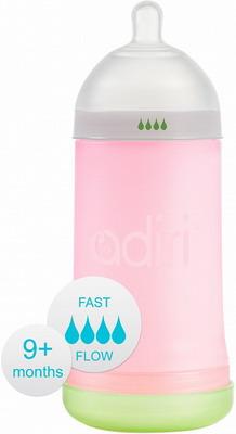 Набор для кормления детей Adiri NxGen Fast Flow Pink от 9 мес. 281 мл
