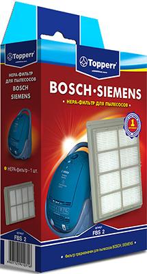 Фильтр Topperr 1102 FBS 2 фильтр bosch для пылесоса gas50 2шт полиэстер 2 607 432 017