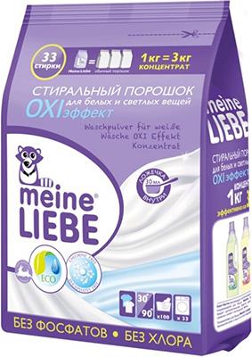 Стиральный порошок Meine Liebe для белых и светлых вещей OXI эффект Концентрат 1000 г ML 31203 стиральный порошок meine liebe для белых вещей oxi эффект концентрат 1000 г