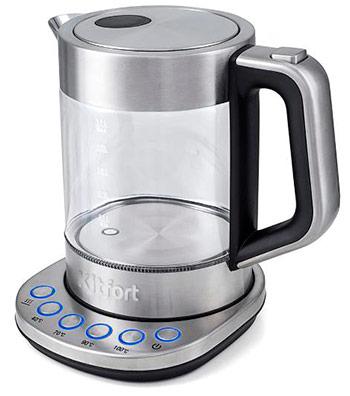 Чайник электрический Kitfort КТ-616 чайник kitchenaid kten20sbob чёрный 1 9 л нержавеющая сталь