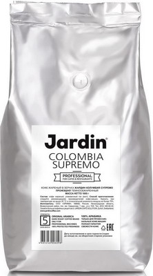 Кофе зерновой Jardin Colombia Supremo 1кг