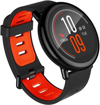 Часы Xiaomi Amazfit PACE черный смарт часы xiaomi amazfit pace 1 34 черный красный