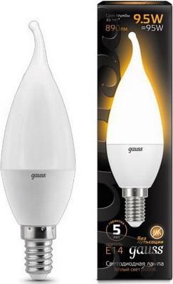 Лампа GAUSS LED Candle tailed E 14 9.5W 3000 K 104101110 цена