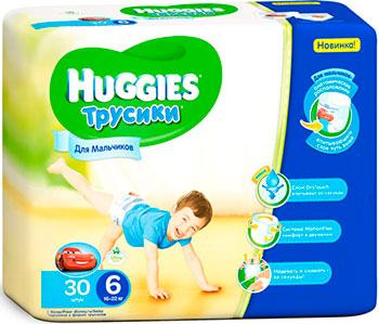 цены на Трусики-подгузники Huggies Annapurna Размер 6 16-22кг 30шт для мальчиков в интернет-магазинах