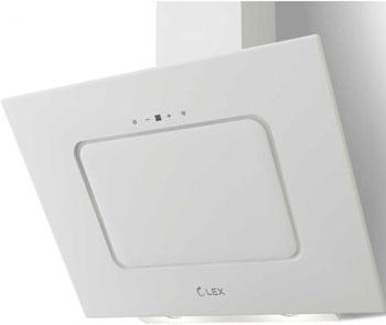 Вытяжка со стеклом Lex Luna 600 White вытяжка lex luna 600 black 60см 680куб черн стекло