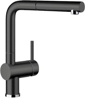 Кухонный смеситель BLANCO LINUS-S КЕРАМИКА черный смеситель для кухни blanco linus s керамика черный
