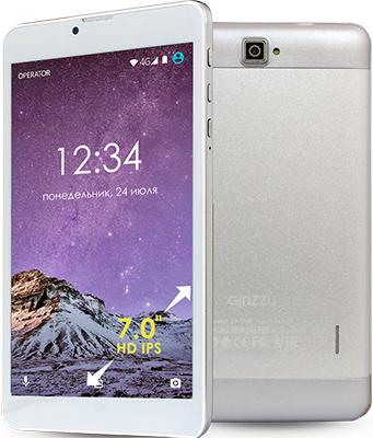 Планшет Ginzzu GT-7105 серебристый планшет