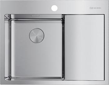 Кухонная мойка OMOIKIRI AKISAME 65-IN-L нерж.сталь/нержавеющая сталь (4973058) reginox мойка кухоннаяreginox ohio 18x40 50x40 lux l сталь