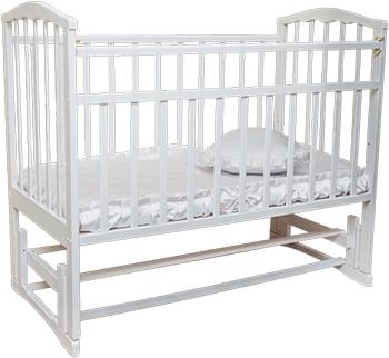 Детская кроватка Агат ''Золушка-5'' 120*60 классическая  маятник продольный  Белый