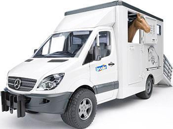 Фургон Bruder Mercedes-Benz Sprinter фургон с лошадью 02-533 bruder фургон man для перевозки животных с коровой 02 749