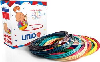 Комплект низкотемпературного пластика для 3D ручки (6 мотков разного цвета) UNID KID-6 комплектующие для 3d unid книга трафаретов для 3д рисования