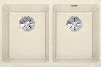 Кухонная мойка BLANCO SUBLINE 350/350-U SILGRANIT жасмин с отв.арм. InFino 523579 мойка subline 350 150 u cer basalt 516976 blanco