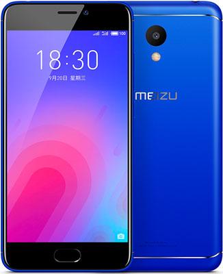 Мобильный телефон Meizu M6 16 Gb синий смартфон bqs 5050 strike selfie grey mediatek mt6580 1 3 8 gb 1 gb 5 1280x720 dualsim 3g bt android 6 0