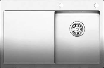 Кухонная мойка BLANCO CLARON 4S-IF/А (чаша справа) нерж. сталь зеркальная полировка 521623 blanco elipso s ii нерж сталь зеркальная