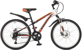 Велосипед Stinger 24'' Caiman D 14'' оранжевый 24 SHD.CAIMD.14 OR7 stinger stinger велосипед 24 caiman 14 зеленый