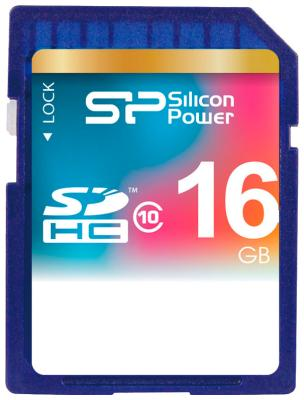Карта памяти Silicon Power SDHC 16 Gb Class 10 SP 016 GBSDH 010 V 10 transcend micro sdhc 16 gb class 10 no adapter ts 16 gusdc 10