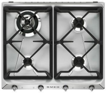 Встраиваемая газовая варочная панель Smeg SR 964 XGH варочная панель индукционная smeg sim562b