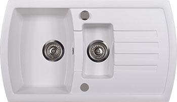 Кухонная мойка Kuppersberg ALBA 1 5B1D WHITE ALABAS. (7048)