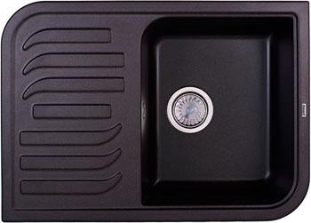 Кухонная мойка Weissgauff SOFTLINE 695 Eco Granit черный  weissgauff softline 780 eco granit светло бежевый