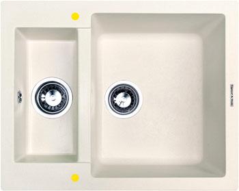 Кухонная мойка Zigmund amp Shtain RECHTECK 600.2 индийская ваниль кухонная мойка zigmund amp shtain eckig 800 топленое молоко