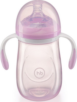 Набор для кормления детей Happy Baby ANTI-COLIC BABY BOTTLE 10009 VIOLET happy baby набор ложек для кормления baby spoon цвет мятный 2 шт