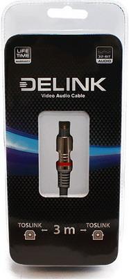 Кабель Delink TOSLINK-TOSLINK Metall Grey 3 0м кабель delink 3 5m 2х3 5f grey 0 3м