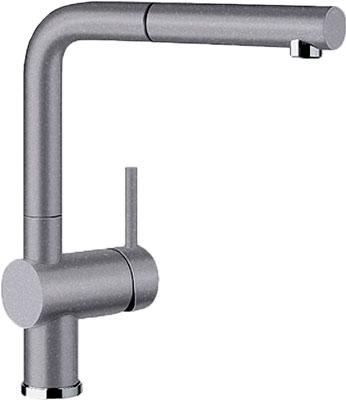 Кухонный смеситель BLANCO LINUS-S SILGRANIT алюметаллик  смеситель linus rock grey 518814 blanco