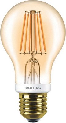 цена на Лампа Philips LEDCla 7.5-60 W A 60 E 27 2000 K GOLD