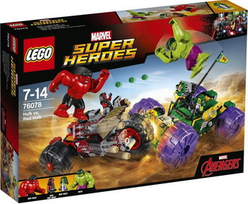 Конструктор Lego SUPER HEROES Халк против Красного Халка 76078 single sale super heroes homecoming spiderman with hand spidder