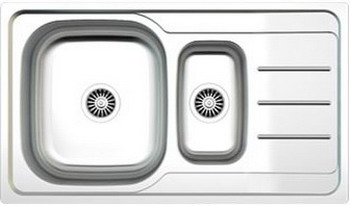 Кухонная мойка Zigmund amp Shtain RECHTECK 860 D.8 Linen кухонная мойка zigmund