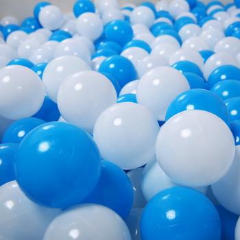 Набор мячей для сухого бассейна Hotnok Облака (50шт: голуб и бел) sbh 134