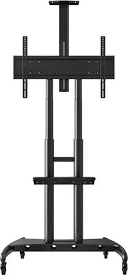 Мобильная стойка для презентаций ONKRON TS 1881 чёрная универсальная мобильная стойка ums 4 для интерактивных досок с крепежом для укф проекторов