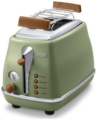 Тостер DeLonghi CTOV 2103.GR зеленый тостер delonghi ctov 2103 bk