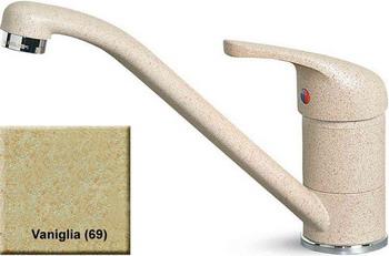 Кухонный смеситель Elleci MINERVA  granitek (69) vaniglia MGKMIN 69 мойка кухонная elleci easy 135 680x500 granitek 51 lgy13551