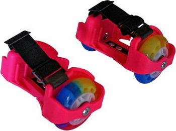 Детские роликовые коньки Moby Kids 2 колеса свет розовые