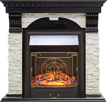 Каминокомплект Royal Flame Dublin арочный сланец белый с очагом Majestic FX Black (RB-STD3BLFX) (венге) каминокомплект royal flame alexandria с очагом majestic fx brass rb std3brfx белый дуб