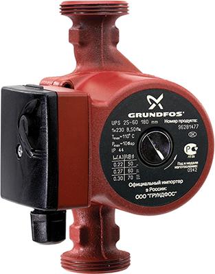 Насос Grundfos UPS 32-60 циркуляционный одинарный насос grundfos ups 40 60 2 f 96401915