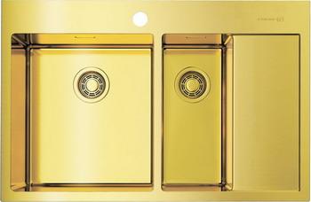 Кухонная мойка OMOIKIRI Akisame 78-2-LG-L светлое золото (4973087)