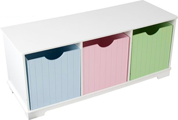 Скамья с ящичками для хранения KidKraft ''Storage Bench Pastel'' 14565_KE
