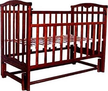 Детская кроватка Агат ''Золушка-5'' 120*60 классическая  маятник продольный  Вишня обычная кроватка агат 52103 золушка 3 вишня