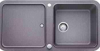 Кухонная мойка BLANCO YOVA XL 6S SILGRANIT алюметаллик с клапаном-автоматом InFino 523596 мойка кухонная blanco elon xl 6 s шампань с клапаном автоматом 518741