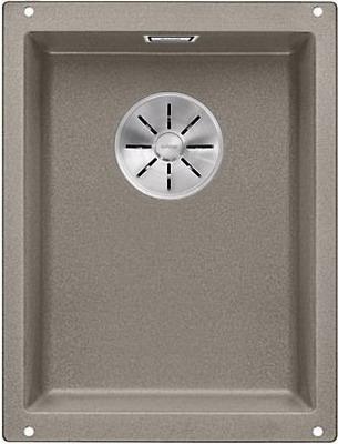 Кухонная мойка BLANCO SUBLINE 320-U SILGRANIT серый беж с отв.арм. InFino 523413 blanco fontas гранит серый беж