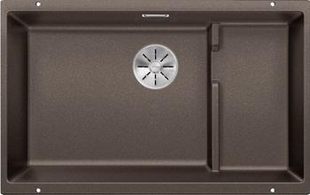 Кухонная мойка BLANCO SUBLINE 700-U Level SILGRANIT кофе с отв.арм. InFino 523547 blanco 700 u level 520666
