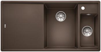 Кухонная мойка BLANCO AXIA III 6 S-F InFino Silgranit кофе правая ( доска стекло) 523494 мойка axia ii 6 s f rock grey 518834 blanco